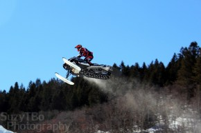 Andy Leiders warming up for Snocross